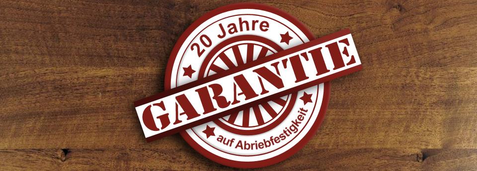 20 Jahre Garantie auf Abriebfestigkeit bei Ihrem Treppenstudio AB Treppen