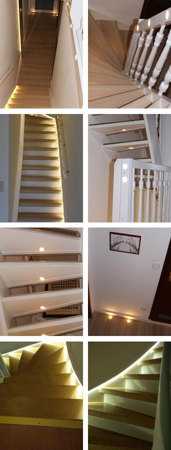 Verschiedene Beleuchtungssysteme für verschiedenste Treppen