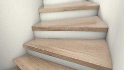 Eine sanierte Treppe von AB Treppen in Bremen