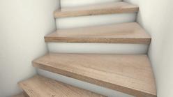 Eine sanierte Treppe von AB Treppen in Dortmund